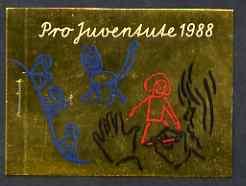 Booklet - Switzerland 1988 Pro Juventute Booklet - Child Development School Age - containing 3 panes of 4  50c + 20c