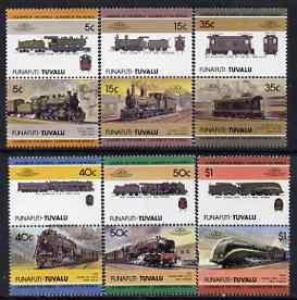 Tuvalu - Funafuti 1984 Locomotives at Work 2nd Series (Leaders of the World) set of 12 (5c - $1) unmounted mint