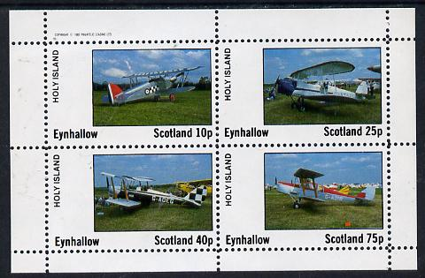 Eynhallow 1982 Bi-planes #3 perf  set of 4 values (10p to 75p) unmounted mint