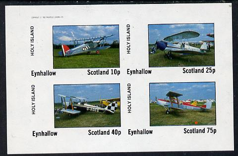 Eynhallow 1982 Bi-planes #3 imperf  set of 4 values (10p to 75p) unmounted mint