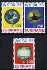 Surinam 1994 World football Championships USA set of 3 unmounted mint, SG 1590-92