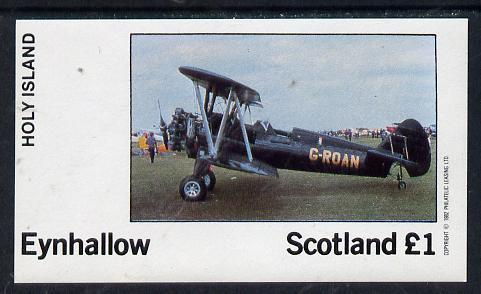 Eynhallow 1982 Bi-planes #3 imperf souvenir sheet (�1 value) unmounted mint