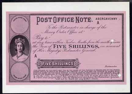 Postcard - Postal Order of 1874 PPC produced by National Postal Museum unused and fine