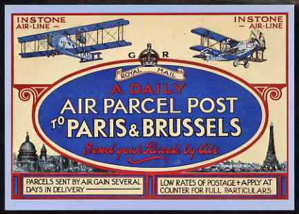 Postcard - Instone Airline Poster of 1921 PPC produced by National Postal Museum unused and fine