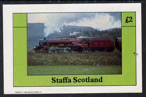 Staffa 1982 Steam Locos #12 imperf deluxe sheet (�2 value) unmounted mint