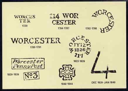 Postcard - Worcester Post Marks PPC produced by Midlands Postal Board unused and fine