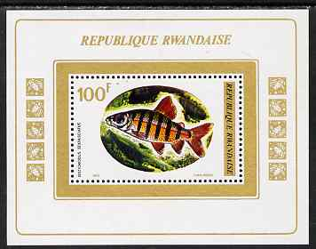 Rwanda 1973 Fish perf m/sheet unmounted mint, SG MS561