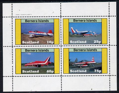 Bernera 1982 Aircraft #10 perf  set of 4 values (10p to 75p) unmounted mint