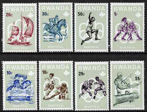 Rwanda 1976 Montreal Olympic Games (1st issue) perf set of 8 values unmounted mint, SG 743-50