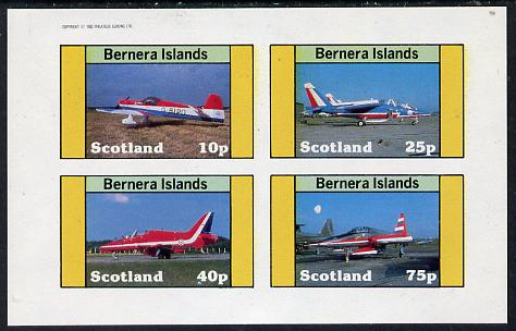 Bernera 1982 Aircraft #10 imperf  set of 4 values (10p to 75p) unmounted mint