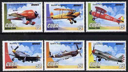 Cuba 2006 Aircraft perf set of 6 unmounted mint SG 4961-6