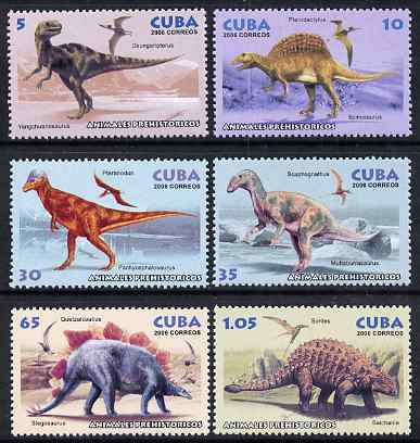 Cuba 2006 Prehistoric Animals perf set of 6 unmounted mint SG 4940-45