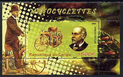 Congo 2009 Motorcycles & Gottlieb Daimler perf m/sheet unmounted mint