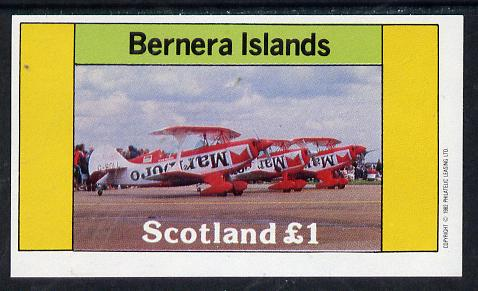 Bernera 1982 Aircraft #10 (Advertising Marlboro Cigarettes) imperf souvenir sheet (�1 value) unmounted mint
