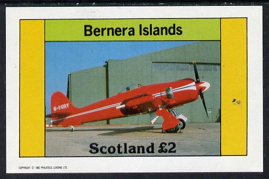 Bernera 1982 Aircraft #10 imperf deluxe sheet (�2 value) unmounted mint