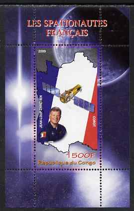 Congo 2009 French Astronauts perf m/sheet unmounted mint