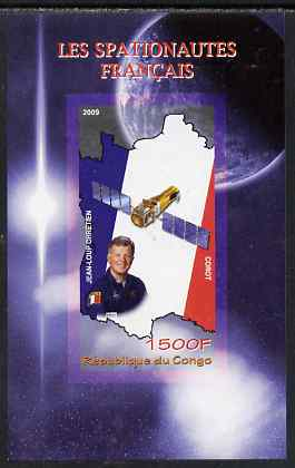 Congo 2009 French Astronauts imperf m/sheet unmounted mint