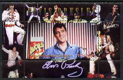 Congo 2009 Elvis Presley perf m/sheet unmounted mint