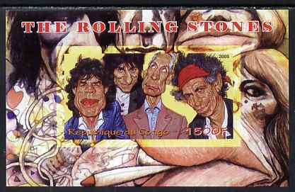 Congo 2009 The Rolling Stones imperf m/sheet unmounted mint