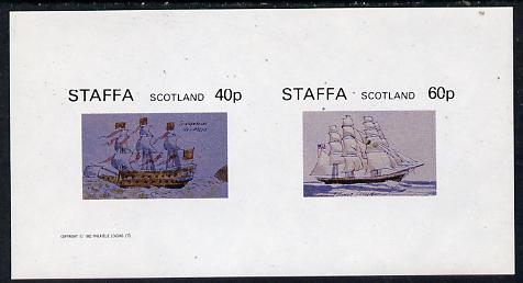Staffa 1982 Ships #1 (Sovereign of the Seas & Flying Cloud) imperf  set of 2 values (40p & 60p) unmounted mint