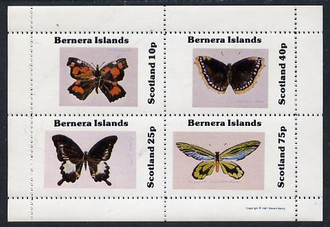 Bernera 1981 Butterflies perf  set of 4 values (10p to 75p) unmounted mint