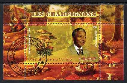 Congo 2009 Nelson Mandela & Mushrooms perf m/sheet fine cto used