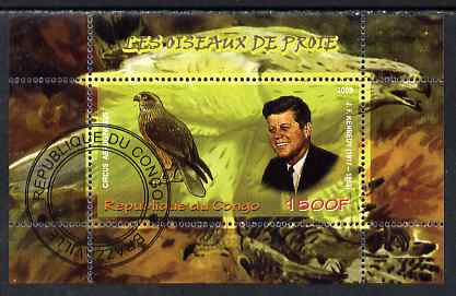 Congo 2009 John Kennedy & Marsh Harrier perf m/sheet fine cto used