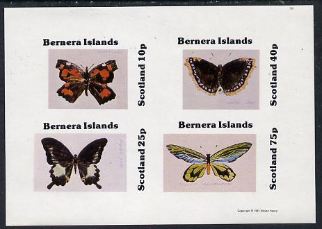 Bernera 1981 Butterflies imperf  set of 4 values (10p to 75p) unmounted mint