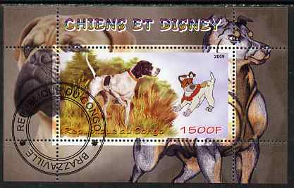 Congo 2009 Disney Dogs #2 perf m/sheet fine cto used