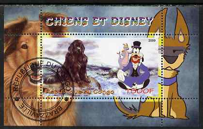 Congo 2009 Disney Dogs #5 perf m/sheet fine cto used