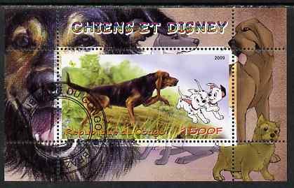 Congo 2009 Disney Dogs #6 perf m/sheet fine cto used