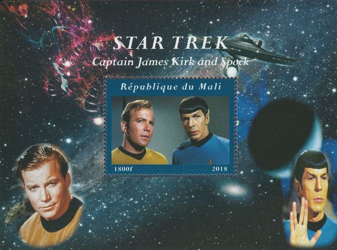 Mali 2018 Star Trek perf souvenir sheet unmounted mint. Note this item is privately produced and is offered purely on its thematic appeal.