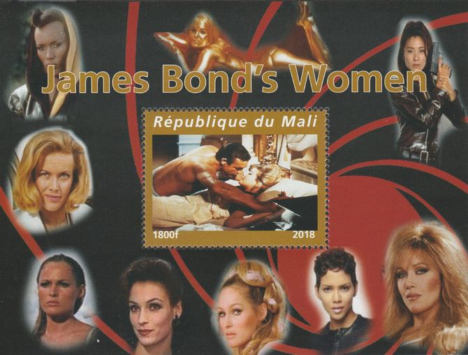 Mali 2018 James Bond's Women perf souvenir sheet unmounted mint. Note this item is privately produced and is offered purely on its thematic appeal.