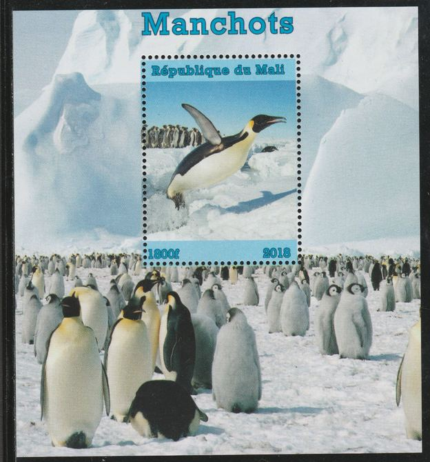 Mali 2018 Penguins perf souvenir sheet unmounted mint. Note this item is privately produced and is offered purely on its thematic appeal.