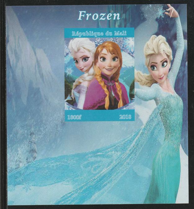 Mali 2018 Frozen (Animated Movie) imperf souvenir sheet unmounted mint. Note this item is privately produced and is offered purely on its thematic appeal.