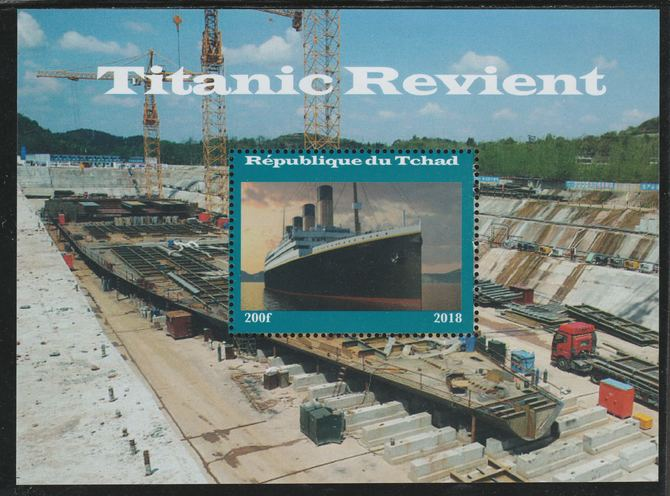 Chad 2018 Titanic Revisited perf souvenir sheet unmounted mint. Note this item is privately produced and is offered purely on its thematic appeal.