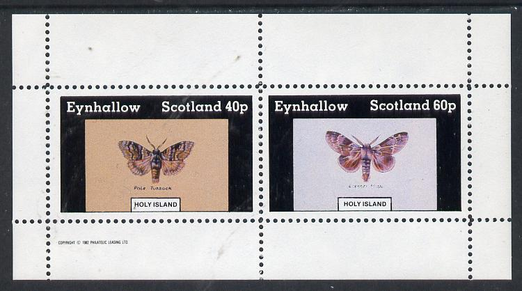 Eynhallow 1982 Butterflies (Pale Tussock & Lobster Moth) perf  set of 2 values (40p & 60p) unmounted mint