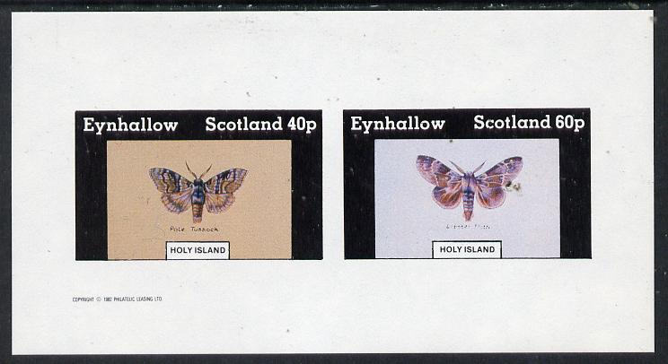 Eynhallow 1982 Butterflies (Pale Tussock & Lobster Moth) imperf  set of 2 values (40p & 60p) unmounted mint