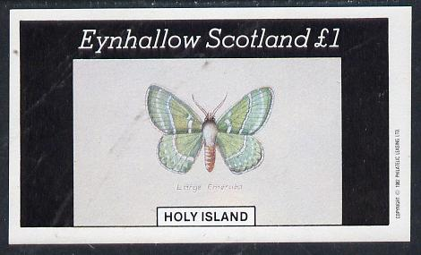 Eynhallow 1982 Butterflies (Large Emerald) imperf souvenir sheet (�1 value) unmounted mint