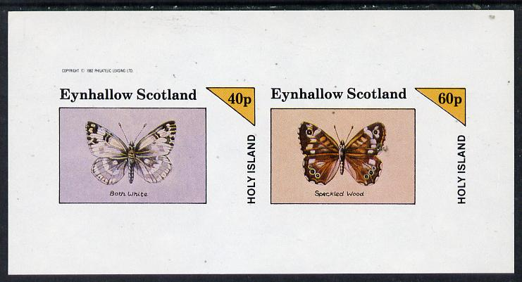 Eynhallow 1982 Butterflies (Bath White & Speckled Wood) imperf  set of 2 values (40p & 60p) unmounted mint