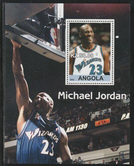 Angola 2002 Michael Jordan #1 perf souvenir sheet unmounted mint