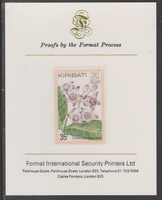Kiribati 1981 Flowers 35c imperf proof mounted on Format International proof card, as SG143