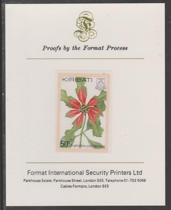 Kiribati 1981 Flowers 50c imperf proof mounted on Format International proof card, as SG144