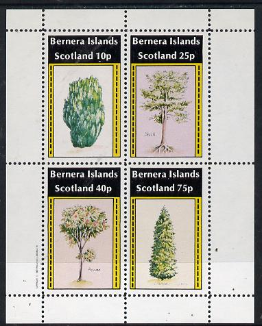 Bernera 1982 Trees (Yew, Beech, Rowan & Cypress) perf  set of 4 values (10p to 75p) unmounted mint