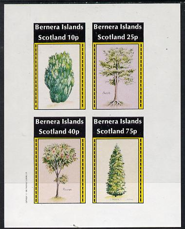 Bernera 1982 Trees (Yew, Beech, Rowan & Cypress) imperf  set of 4 values (10p to 75p) unmounted mint