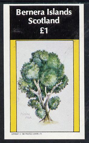 Bernera 1982 Trees (Holm Oak) imperf souvenir sheet (�1 value) unmounted mint