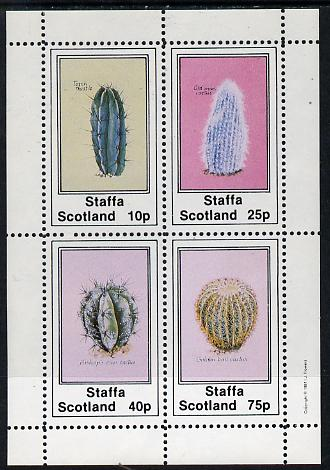 Staffa 1981 Cacti (Torch Thistle, etc) perf  set of 4 values (10p to 75p) unmounted mint