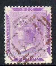 Sierra Leone 1885-96 QV 6d dull violet a fine used example with virtually without watermark (just the curved edge of C is visible) SG 35var