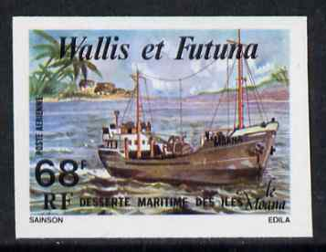 Wallis & Futuna 1979 Freighter Moana 68f imperf from limited printing, unmounted mint
