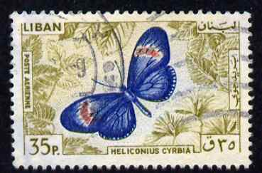 Lebanon 1965 Small Postman Butterfly 35p fine commercial used SG874